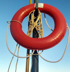 Life preserver on its stand